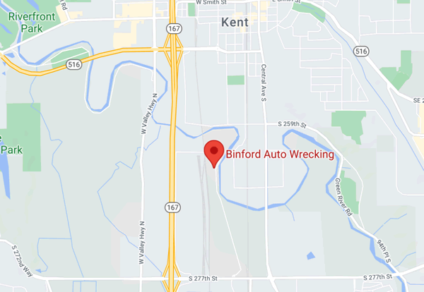 Map to Binford Auto Wrecking